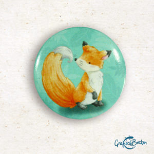 Button Magnet Waldtiere Fuchs Eber Wildschwein Geschenk Freundschaft Illustration Illustratorin Catharina Voigt GrafischBecken