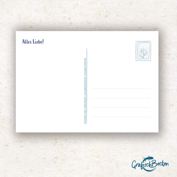 Glückwunschkarte Postkarte Hamster Blume Geburtstag
