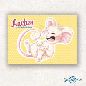 Postkarte Maus Lachen ist die beste Medizin