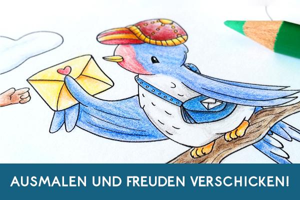 Banner GrafischBecken Ausmalpostkarten