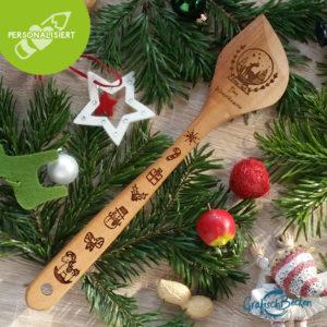 Kochlöffel - Weihnachten - personalisiert