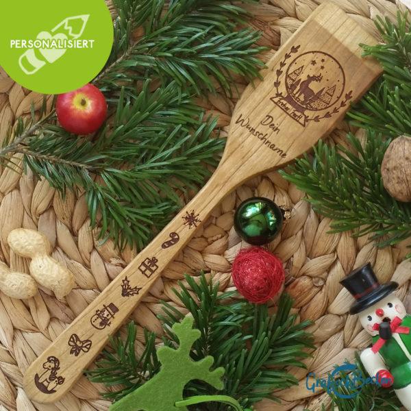 Pfannenwender - Weihnachten - personalisiert