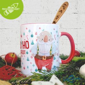 Weihnachtsbox Tasse und Löffel (personalisiert)